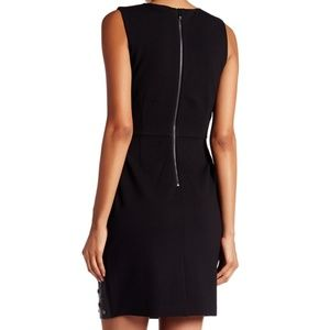 Laundry By Shelli Segal Dresses - NWT Shelli Segal Studded Faux Leather Ponte Dress